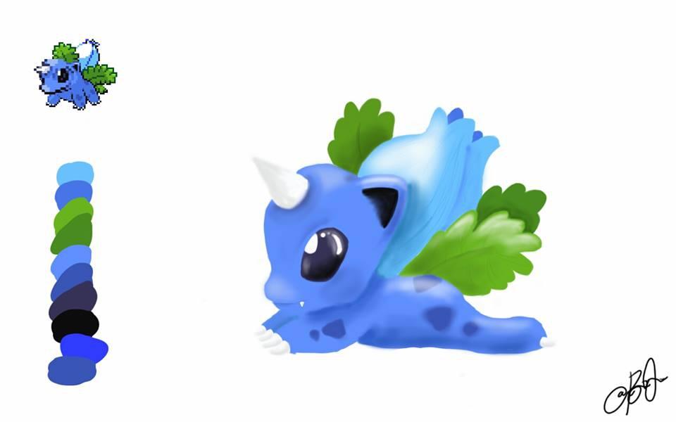 Pokefusion Art (Ivysaur + Dragonair)
