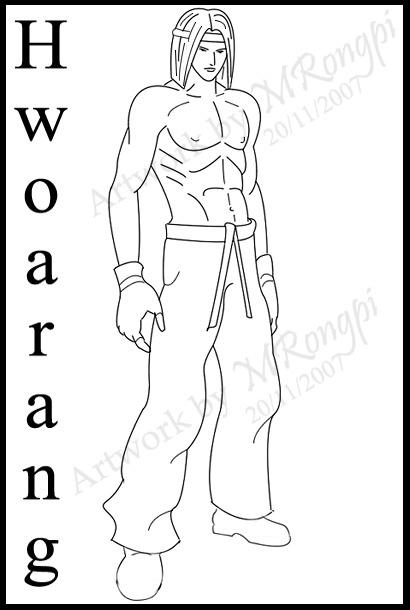 Hwoarang-Lineart