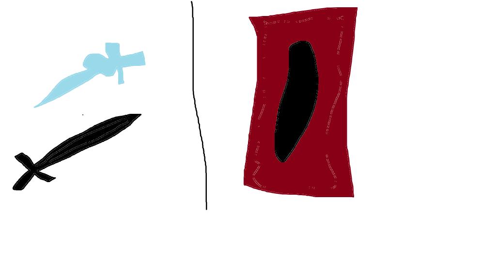 Kirito's swords and a Yu-Gi-Oh card