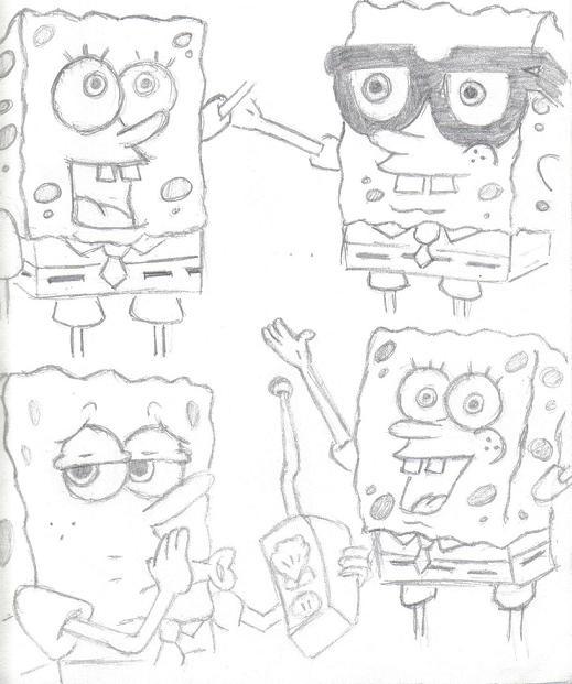 The Faces of Sponge Bob