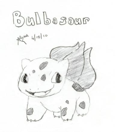 Bulbasaur Sketch