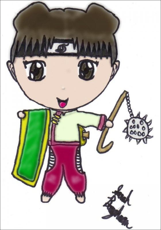 Chibi TenTen Colored