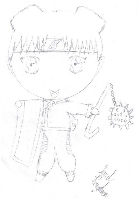 Chibi TenTen Sketch « Naruto Fanart