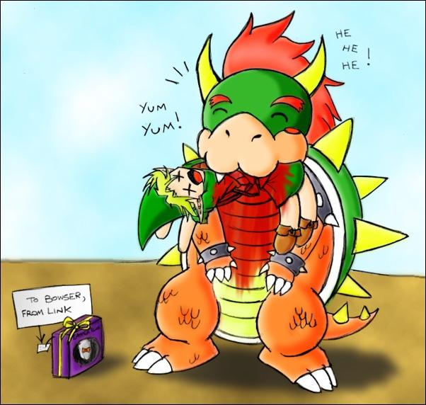 Link and Bowser; Super Smash Easter!