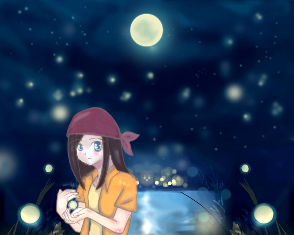 """""""Fireflies"""" by clara_lin"""