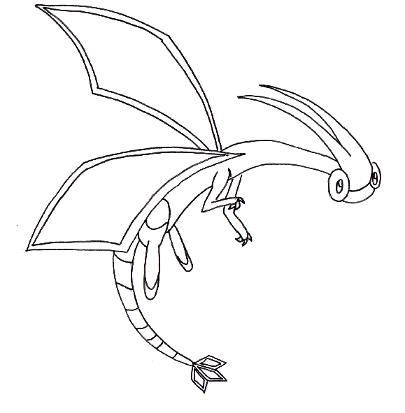 Flygon pok mon fanart for Flygon coloring pages