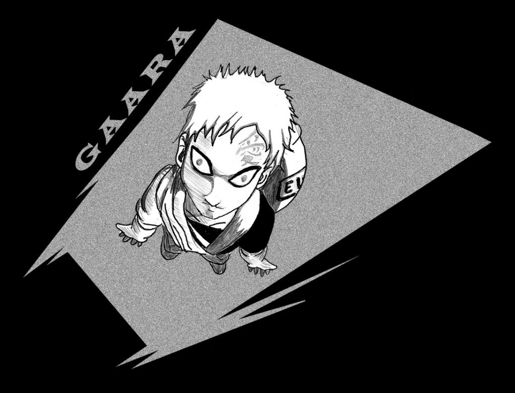 Gaara. Manga Style