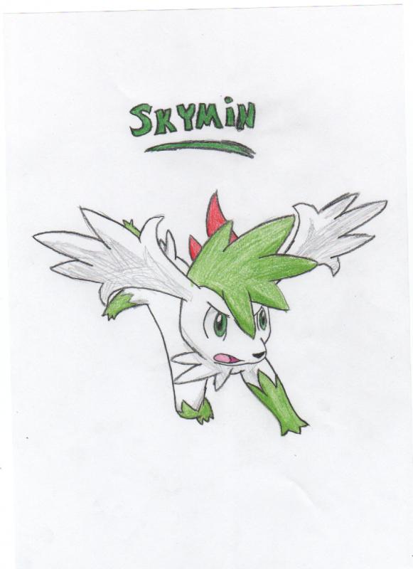 Shaymin Sky Forme Sketch