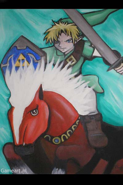 Link with Epona (ocarina of time)