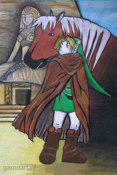 The Legend of Zelda Link outside Spirit Temple