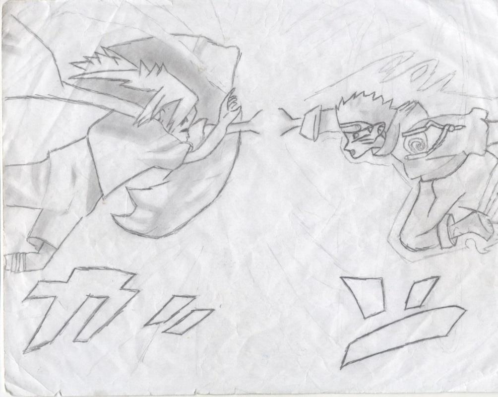 """""""Naruto vs. Sasuke"""" by Sasuke45"""