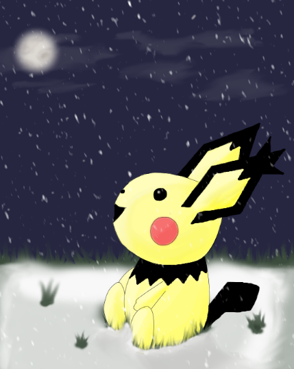 Pichu - Look at the snow