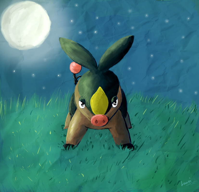 """Tepig - Midnight Meadow"" by Lauzi"