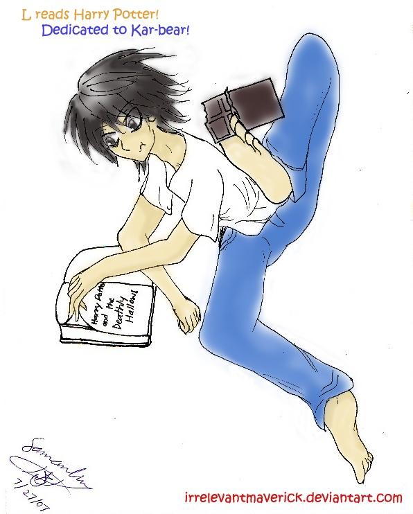 L reads Harry Potter