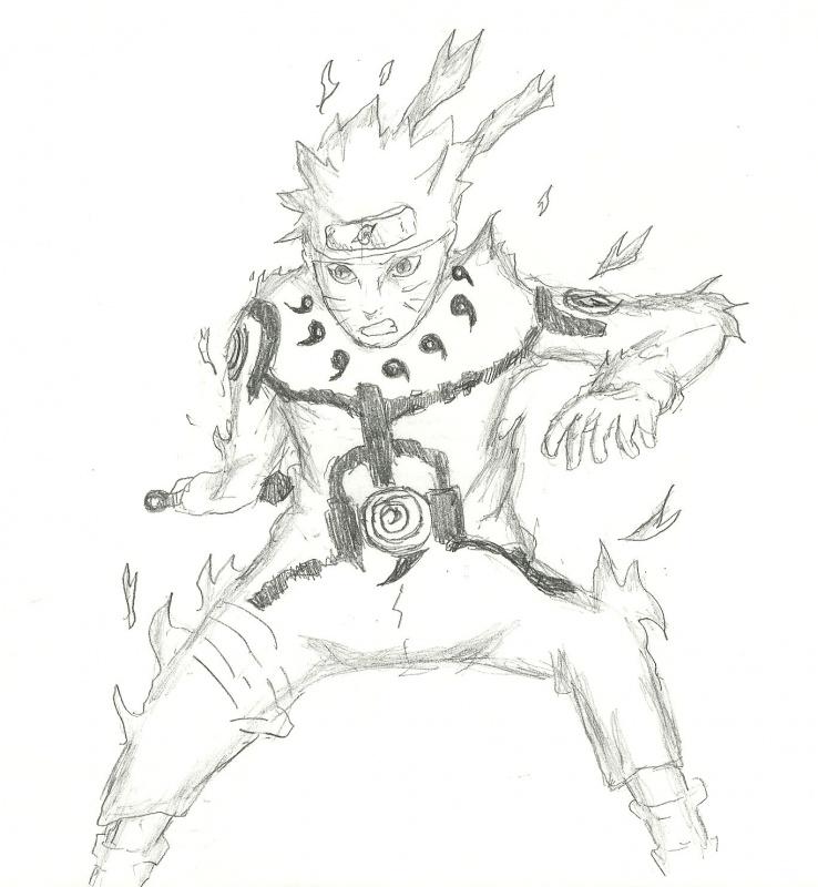Naruto Nine-Tails Mode « Naruto Fanart