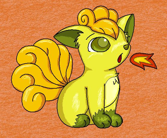 Shiny Vulpix « Pokémon Fanart