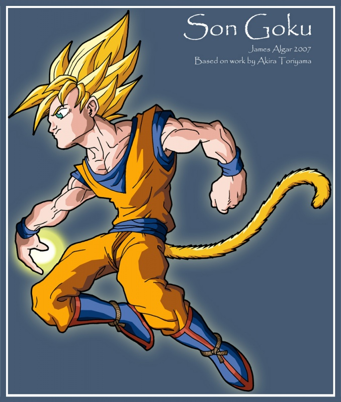 I know it's a picture of Super Saiyan Son Goku, but I still thought