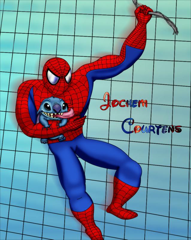 Spiderman And Stitch.