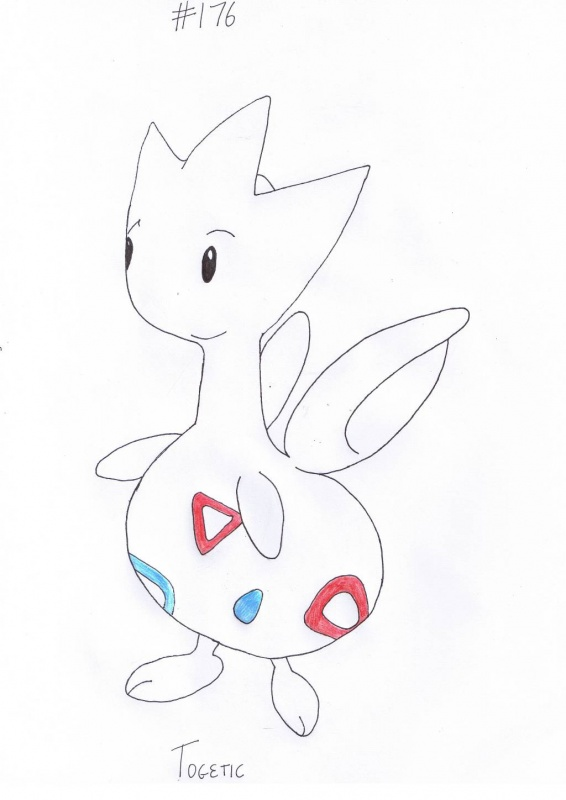 """#176 Togetic"" by Squiggle"