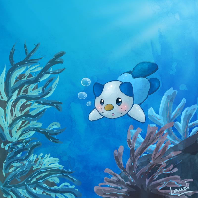 """""""Oshawott Underwater"""" by Lauzi"""