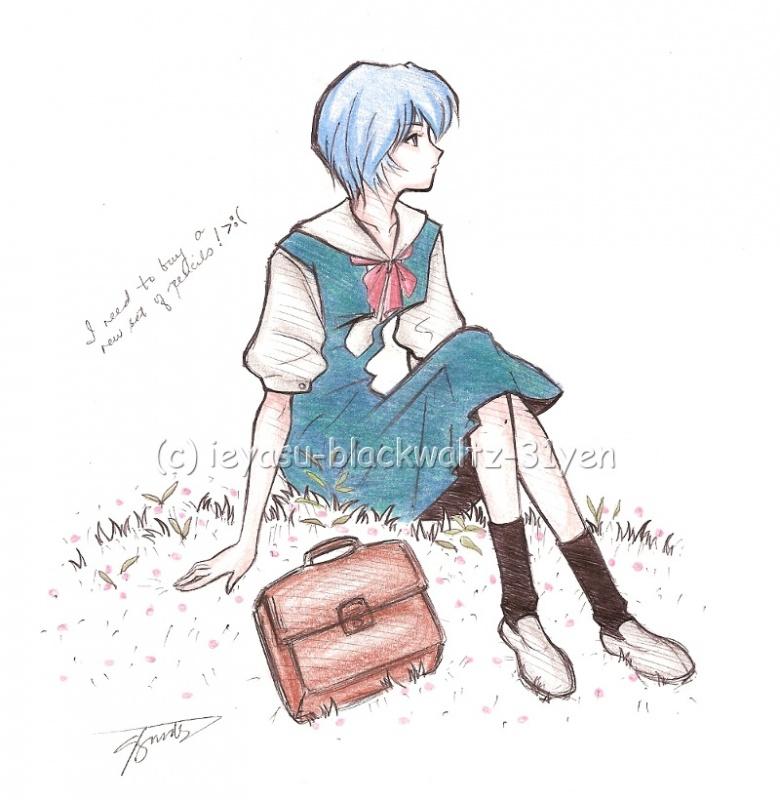 Rei Ayanami in school uniform