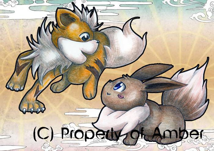 Eevee and Growlithe