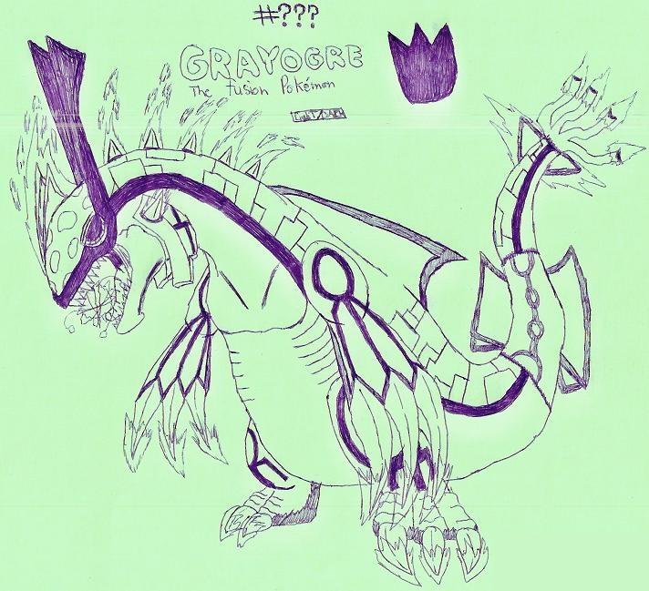 Grayogre, the fusion Pokemon