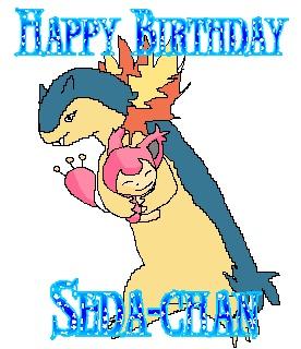 Happy birthday Seda-chan!