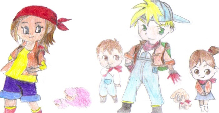 harvest moon island of happiness main characters