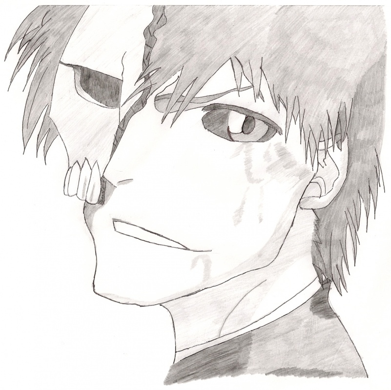 Ichigo with broken mask