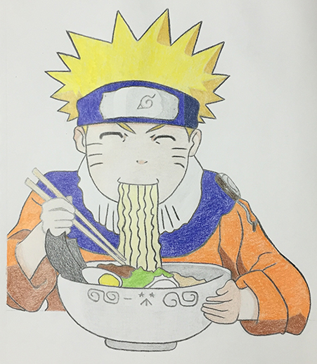 Naruto Eating Ramen (Colored)