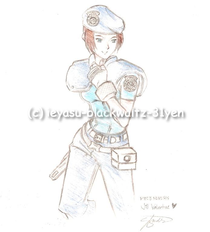 Jill Valentine in S.T.A.R.S. uniform