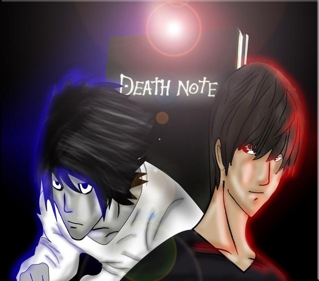 Death Note Kira Vs L 171 Death Note Fanart