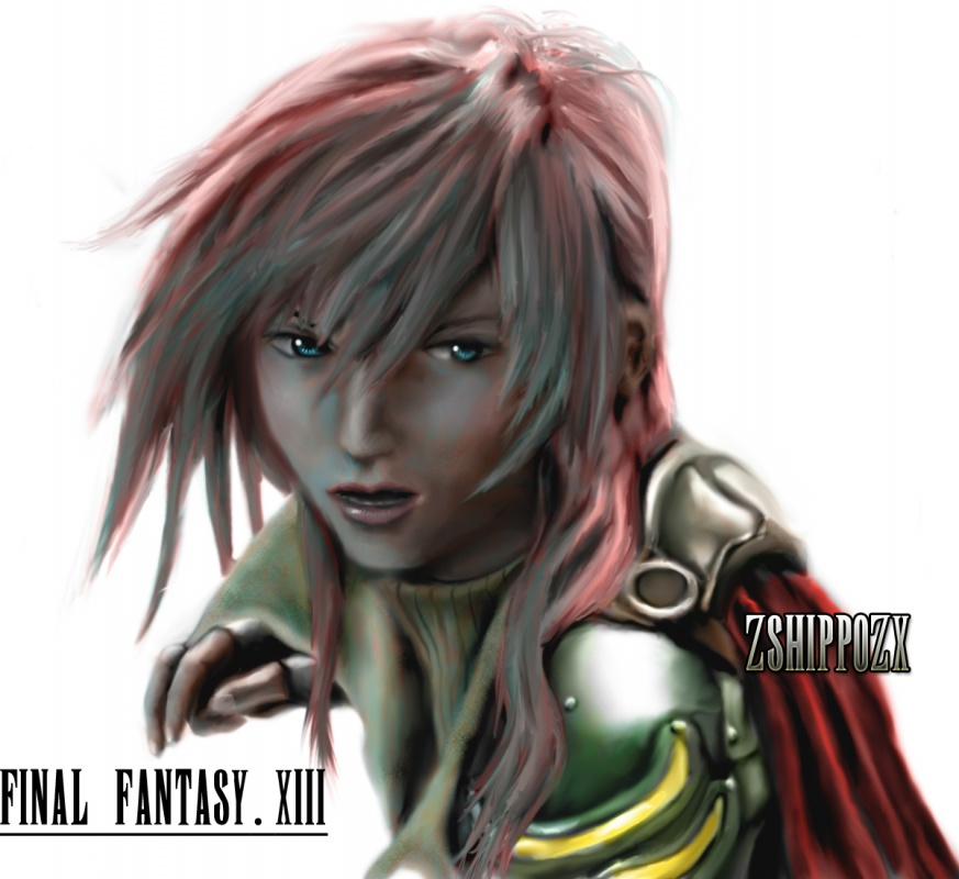 """my photoshop cs4 drawing of lightning FFXIII"" by zshippozx"