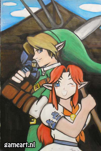 """Link and Malon"" by Artist"