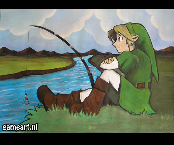 """Fishing Link"" by Artist"
