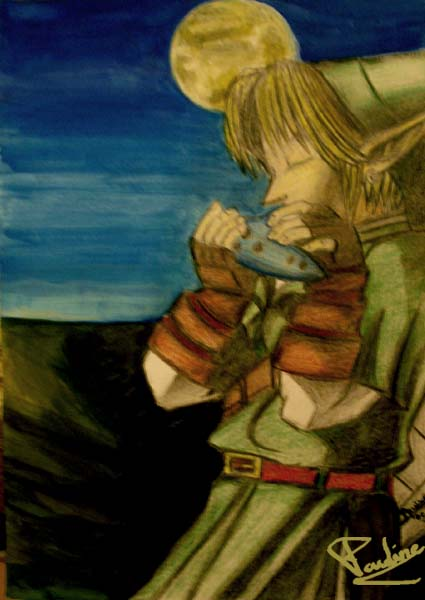 Link with ocarina