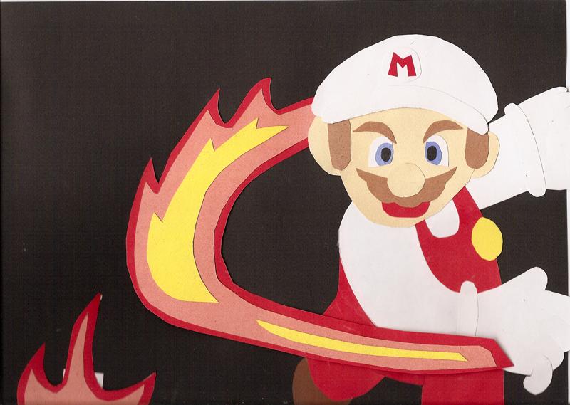 Mario fireball cut-out