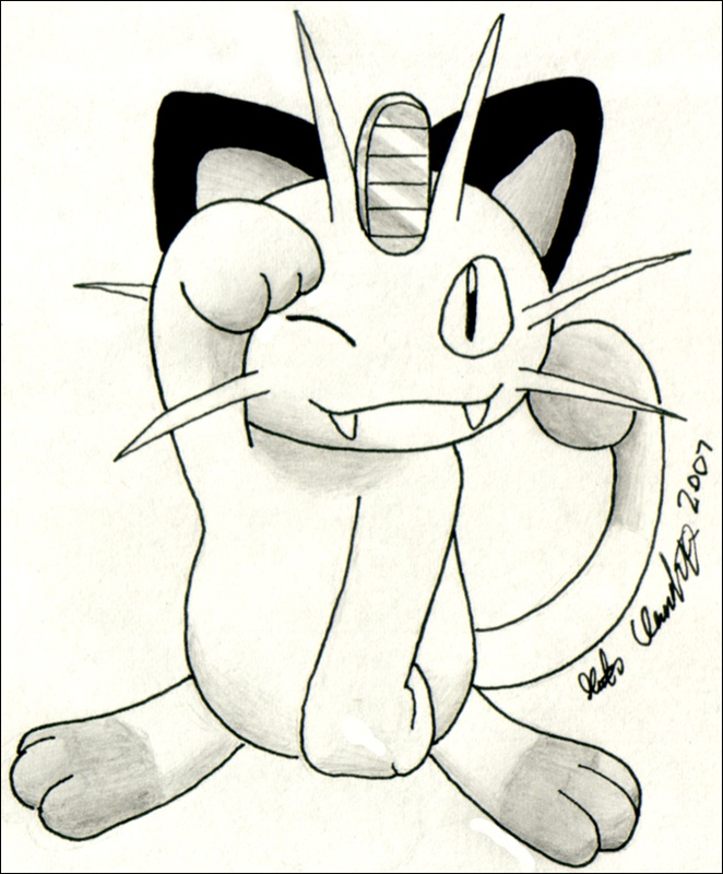 Meowth in pose!