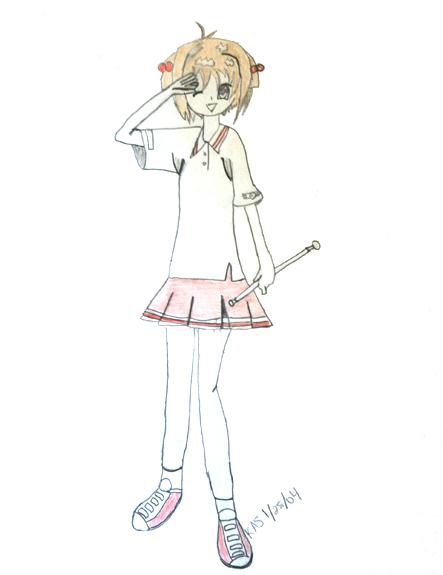 Cheerleading Practice Sakura