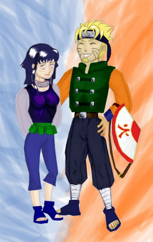 The sixth hokage and his wife.