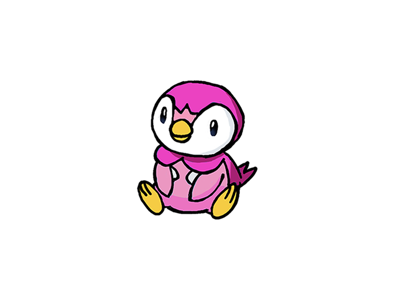 """""""pink piplup"""" by cheryl8"""