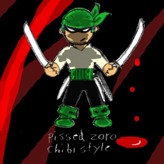 Pissed Zoro, Chibi style