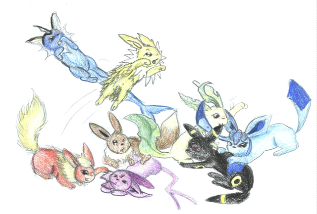 """""""Eeveelutions!"""" by The Champion Maniac"""