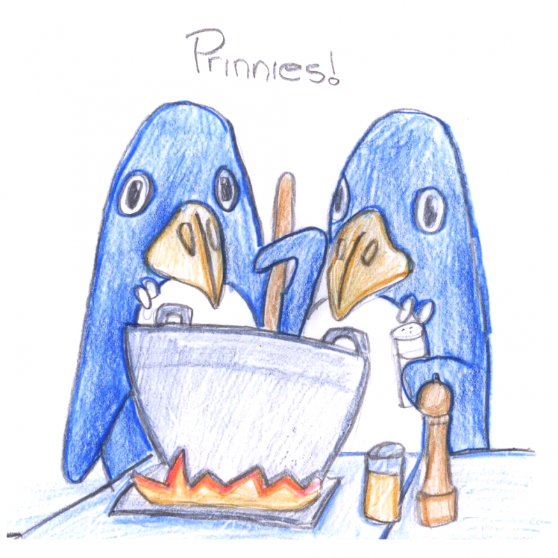 Prinnies Cooking Coloured