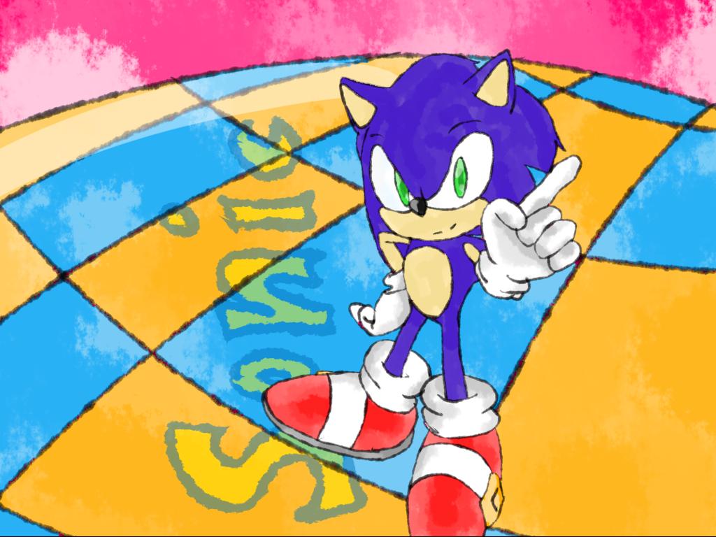 Doodling Sonic
