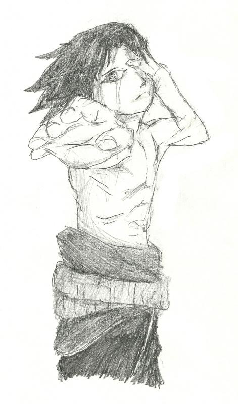Shirtless Sasuke