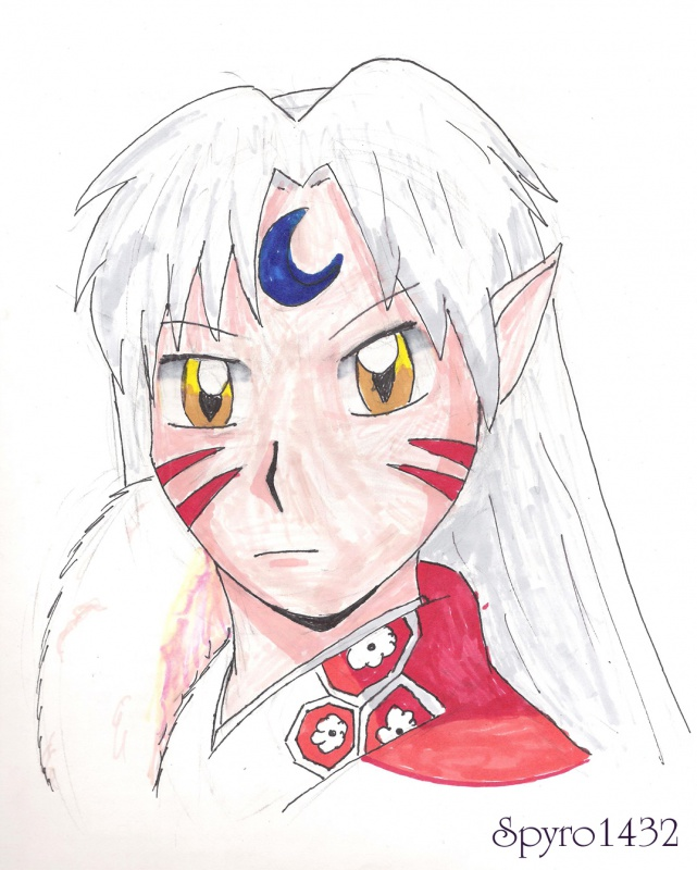"""Sesshomaru Sketch"" by spyro1432"