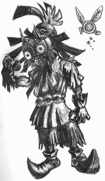 Skull Kid Legend Of Zelda Fanart