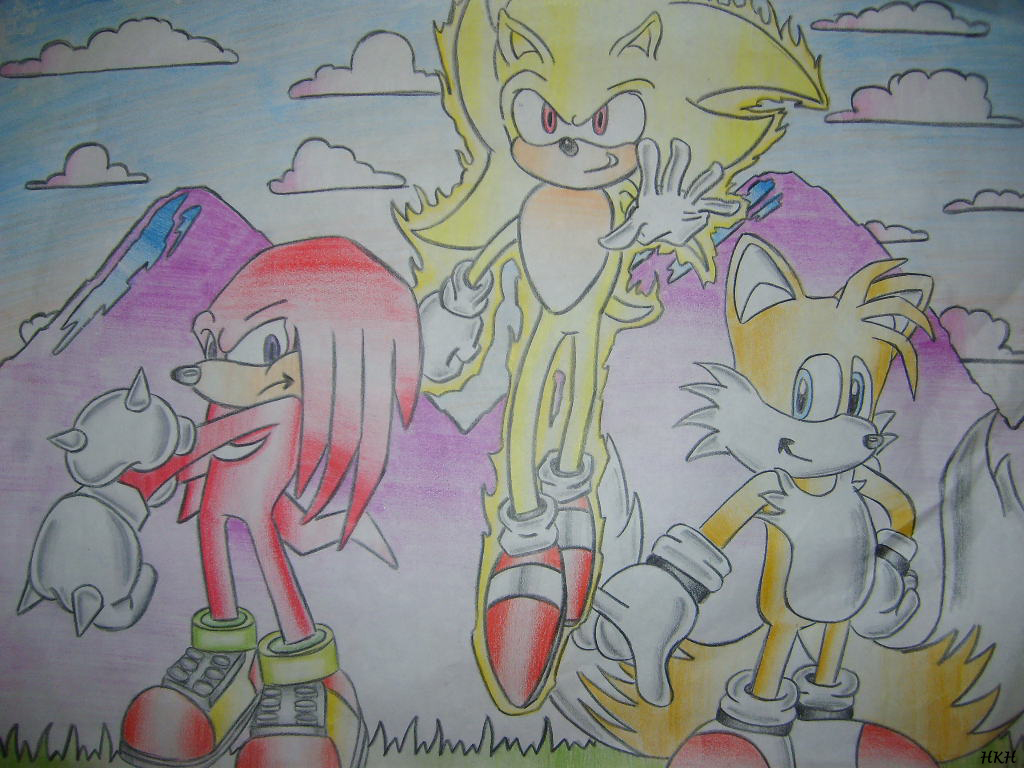 Super Knuckles Sonic Sonic Tails Knuckles